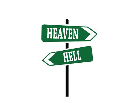 Heaven or Hell Arrow Sign, art vector design