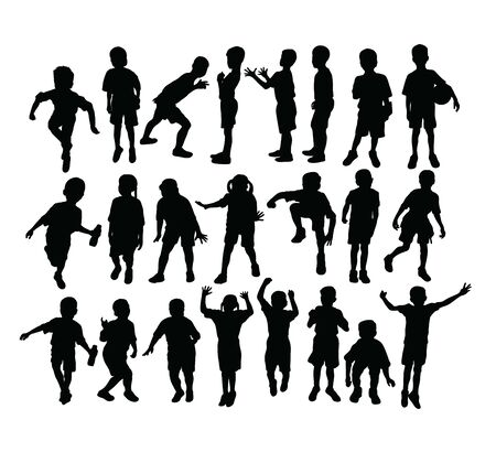 Children Silhouettes, art vector design Stock Illustratie