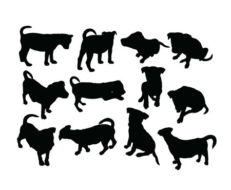 Little Dog Silhouettes, art vector design