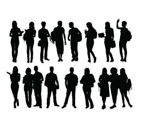 Student and graduation Silhouettes, art vector design