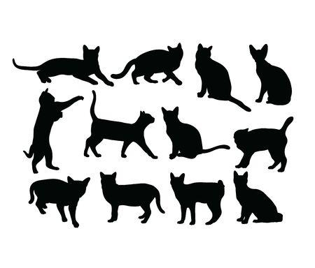Cat Silhouettes, art vector design 스톡 콘텐츠 - 139894417