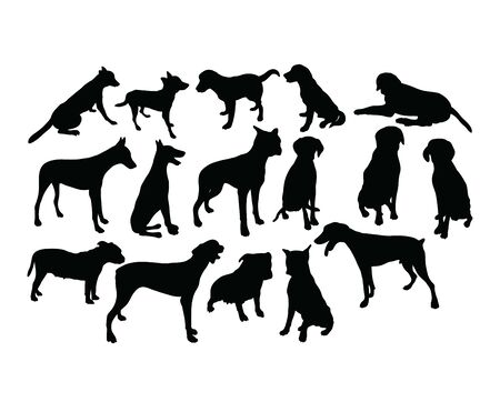 Dog Pet Silhouettes, art vector design 스톡 콘텐츠 - 139894727