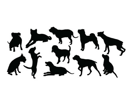 Dog Pet Silhouettes, art vector design 스톡 콘텐츠 - 139894734