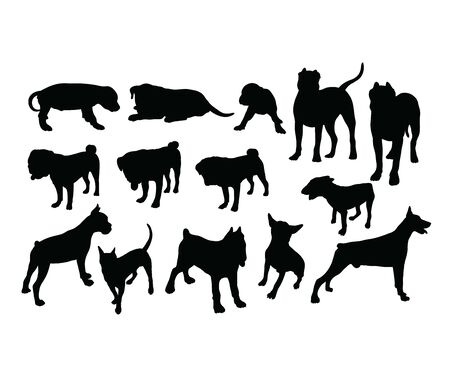 Dog Pet Silhouettes, art vector design 스톡 콘텐츠 - 139894730