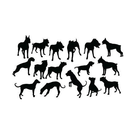 Dog Pet Silhouettes, art vector design