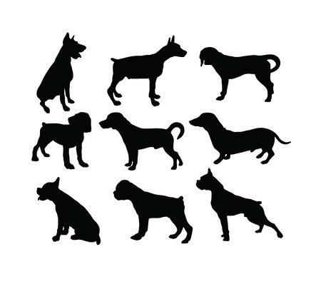 Dog Silhouettes, art vector design 스톡 콘텐츠 - 139823441