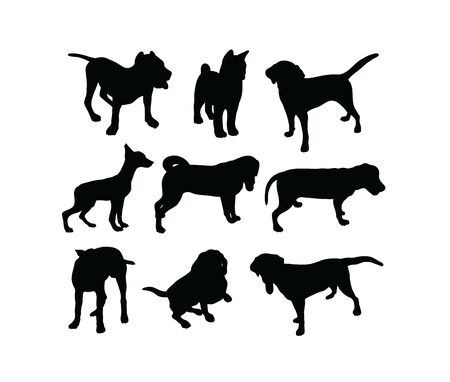 Dog Silhouettes, art vector design
