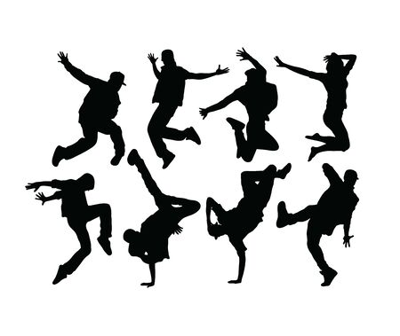 Hip Hop and Dance Silhouettes, art vector design 스톡 콘텐츠 - 140513861