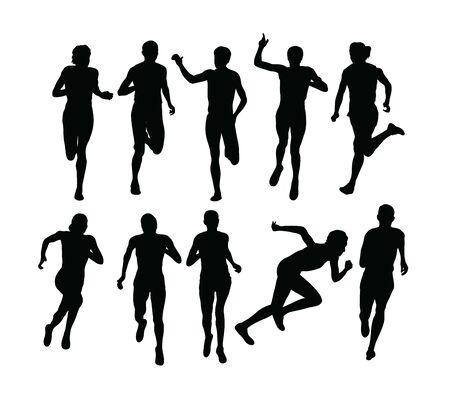 Runner Sport Silhouettes, art vector design