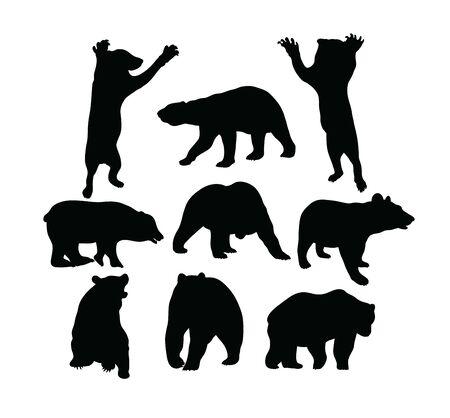 Bear Silhouettes, art vector design