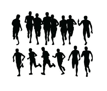 Running Sport Silhouettes, art vector design