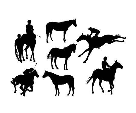 Equestrian Sports Silhouettes, art vector design