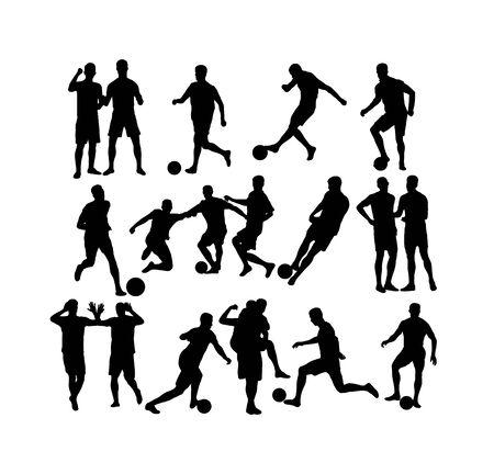 Football Silhouettes, art vector design 版權商用圖片 - 143645254