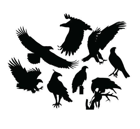 Eagle Bird Silhouettes, art vector design