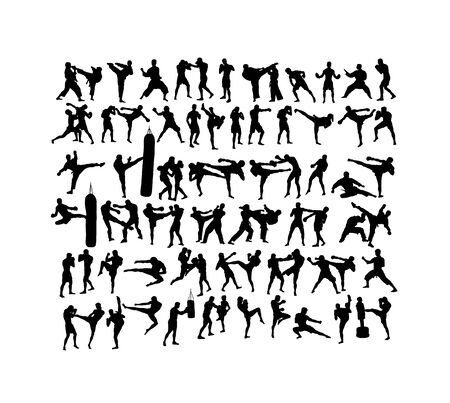 Martial Art Sport Silhouettes, art vector design