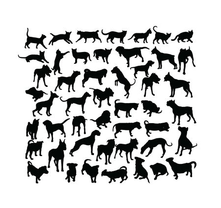 Pet Animal Silhouettes, art vector design