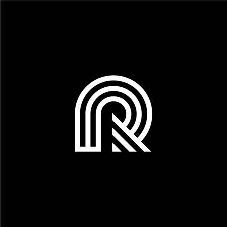 Modern initial letter logo R