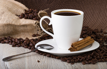 coffe cup: Coffe Cup with coffe beans Stock Photo