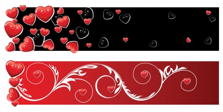 Valentine s day banners Stock Vector - 14257288