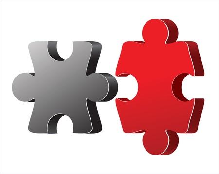 3 d: 3 D puzzle elements Illustration