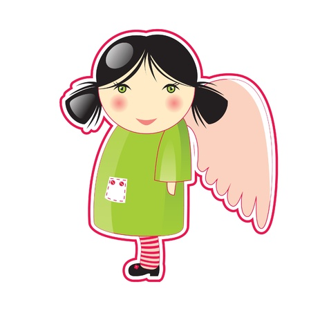 small cute angel Vector