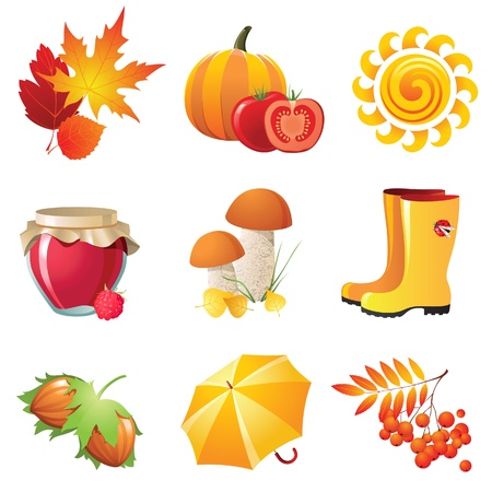 rowan: Bright autumn icons for your designs