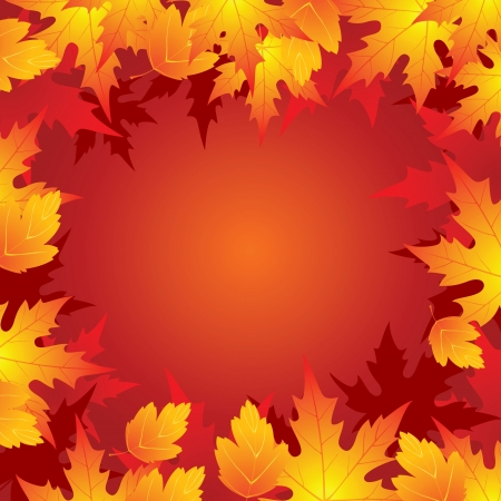 bright autumn background Stock Vector - 14257300