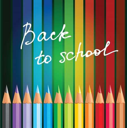 colored pencils: Back to school background