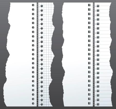 paper binders Stock Vector - 14257305