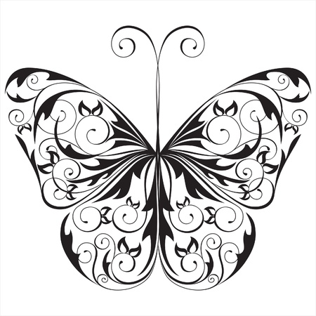 floral butterfly Stock Vector - 14257263