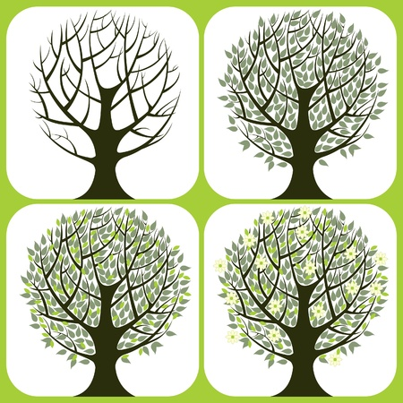 stylized tree icons Vector