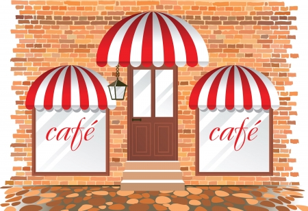 cafe exterior Stock Vector - 14257309