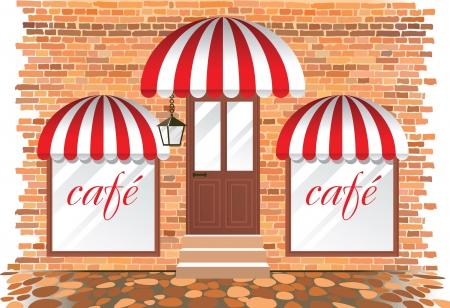 shop display: cafe exterior