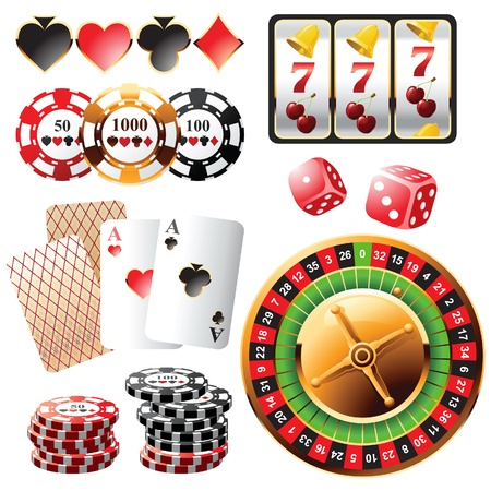 Highly detailed casino design elements Stock Vector - 13869456