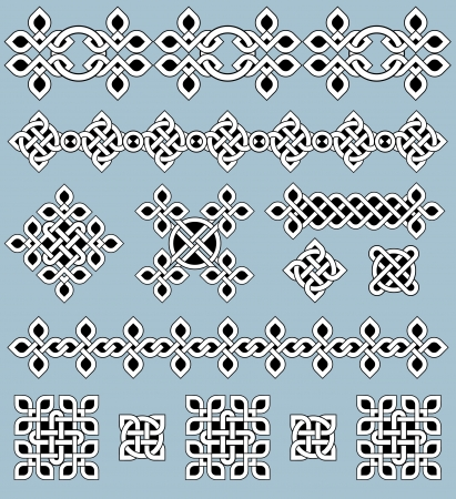 keltische muster: Celtic Ornamente und Design-Elemente