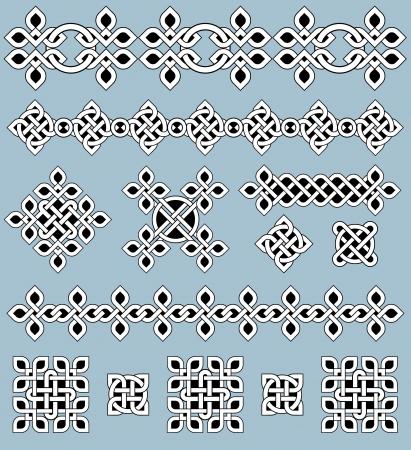 celtico: Ornamenti celtici ed elementi di design