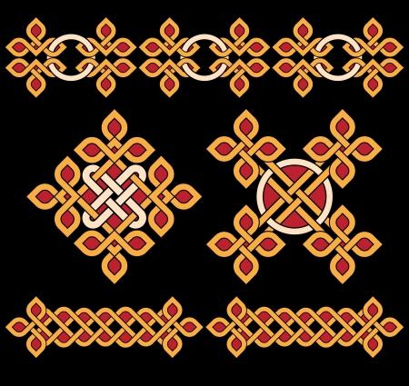 celtic culture: Celtic ornaments and design elements
