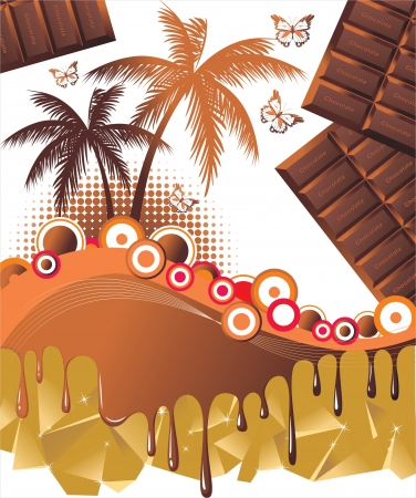 Chocolate travelling Stock Vector - 14269730
