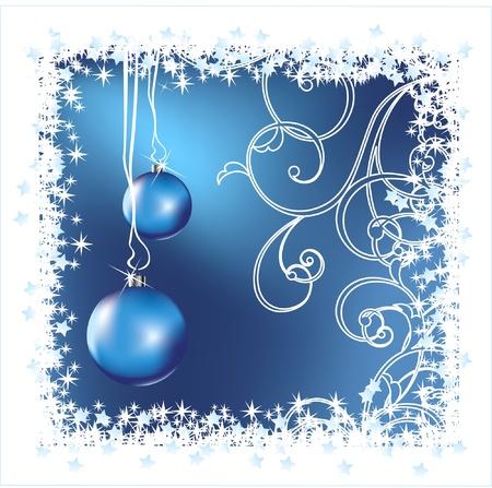 blue christmas: Christmas background