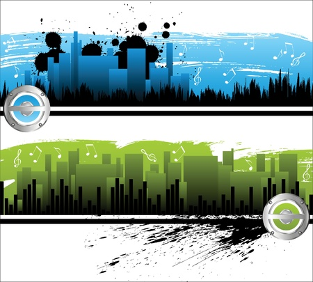 abstract city banners Stock Vector - 14262026