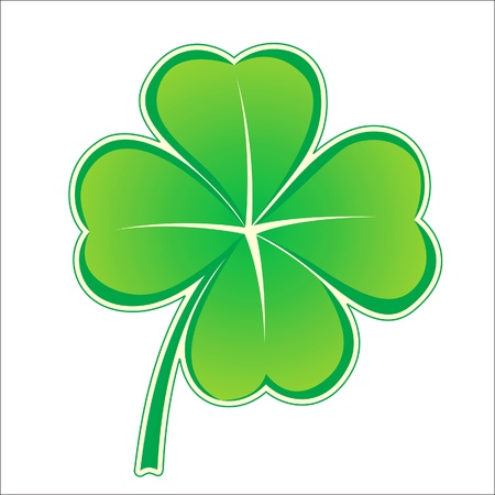 four leaf clovers: stylized clover icon