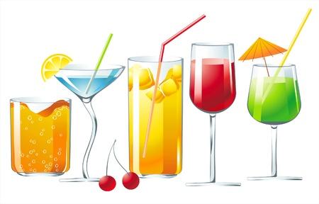 coctail: 5 bright cocktails Illustration