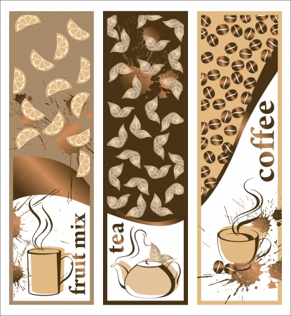 steam of a leaf: coffee banners