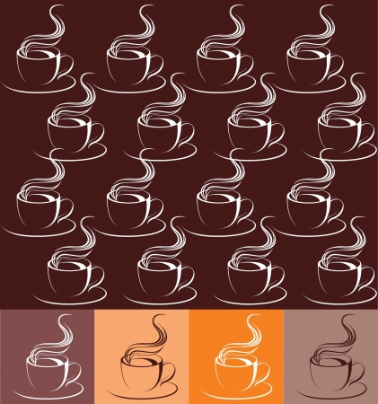 coffee cup ornament Vector