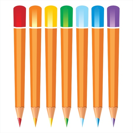 coloured pencils Stock Vector - 14269814