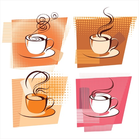 stylized coffee cups Vector