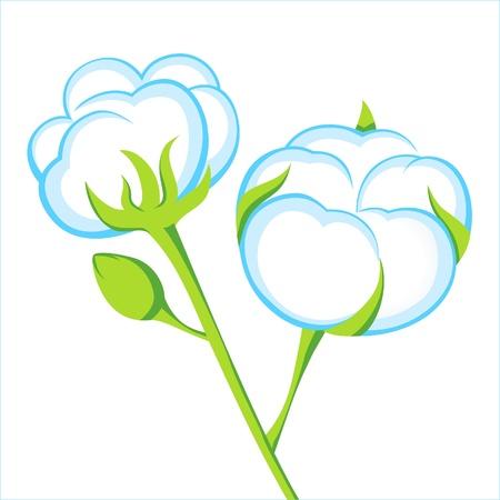 algodón icono Ilustración de vector