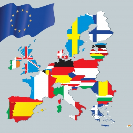 england politics: The European Union map