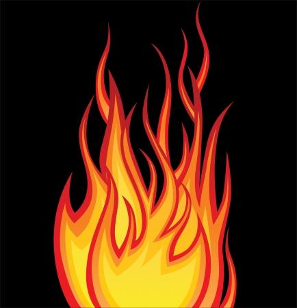 brandweer cartoon: brand Stock Illustratie