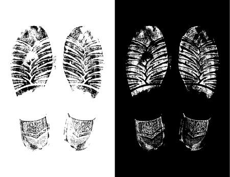 dirty feet: foot print Illustration